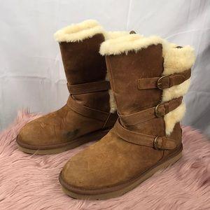 23a536542f2 UGG Women's Becket Triple Buckle Boots